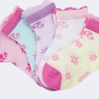 Barbie 芭比  女童短袜 5双装