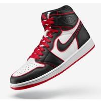 AIR JORDAN 1 HIGH OG BLACK/RED 男子运动鞋
