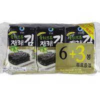 韓國進口零食清凈園橄欖油傳統海苔40.5g紫菜包飯母嬰兒童輔食 *2件