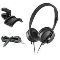 Sennheiser HD 25 LIGHT 显示器耳机带耳机支架和 3.05 米延长电缆