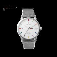 TRIWA 18秋季新品Crayon Klinga 北歐設計米蘭鋼帶男士石英腕表 手表男 手表學生 KLST115-ME021212 銀色