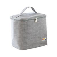 星月藍 保溫包 隔熱飯盒袋防水保溫袋便當包加厚帶飯包鋁箔冰包 (灰色3.5升) *3件