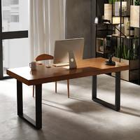 艾依乐 铁艺实木办公电脑桌 120*60*75cm
