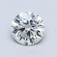 Blue Nile 1.00克拉圆形切割钻石(切工EX 成色G色 净度VS2)