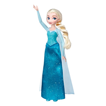 Hasbro 孩之宝 E6738 冰雪奇缘女孩 生日节日礼物 经典公主艾莎