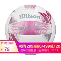 威爾勝(Wilson)中考專用排球柔軟PU貼皮耐磨沙灘校園學生兒童訓練比賽5號排球 WV407T-粉色 *4件