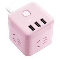 BULL 公牛 GN-U303UP 智能USB插座 1.5米  茱萸粉 *2件