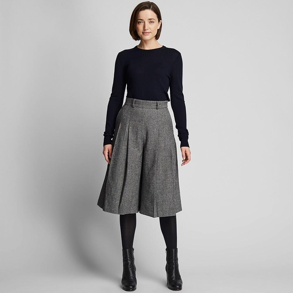 UNIQLO 优衣库 424178 女士粗花呢裙裤