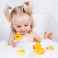 蓓臣 babytry  寶寶5只裝洗澡戲水小鴨子玩具帶BB器捏捏叫小黃鴨戲水