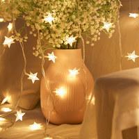 艾欣丽 LED小星星灯 满天星串灯 2米15灯 电池款