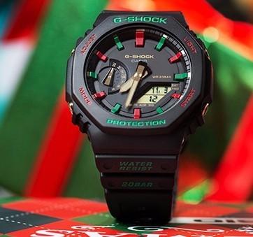 CASIO 卡西欧 G-SHOCK 冬日圣诞系列 GA-2100TH-1A 运动手表
