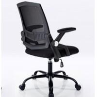 BAJIUJIAN 八九間 電腦椅 (黑框黑網,固定扶手)