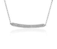 Blue Nile 14K白金钻石密钉条形项链
