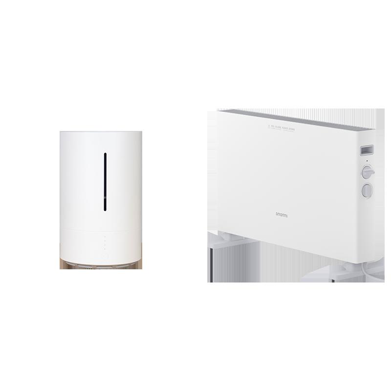 智米电暖器加湿器套装智能取暖器