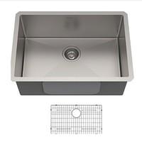 預售0點截止 : Kraus 克勞思 KHU100-26 304不銹鋼拉絲單盆廚房水槽