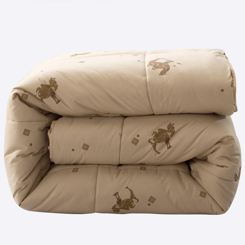 J.H.Longess 高密纯棉保暖驼毛被 200*230cm 8斤
