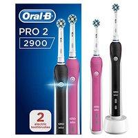 中亚Prime会员、再降价:BRAUN 博朗 Oral-B 欧乐-B Pro 2 2900 3D智能电动牙刷 2支装