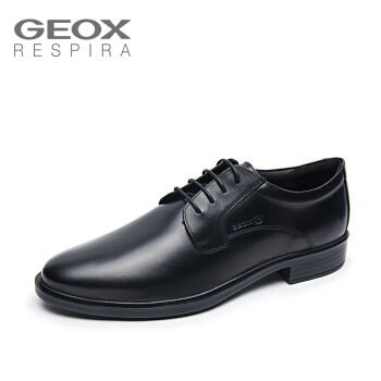 GEOX/健乐士男士正装皮鞋春秋款系带户外透气U844WA
