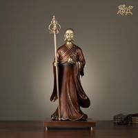 銅師傅 全銅擺件《地藏王之一》家居飾品 銅工藝品 佛像擺件