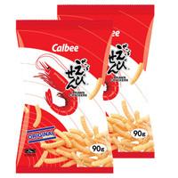 限地区:Calbee 卡乐比  原味虾条 90g*2袋 *7件