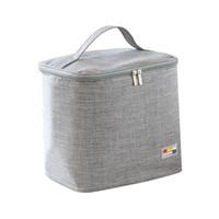 星月藍 保溫包 隔熱飯盒袋防水保溫袋便當包加厚帶飯包鋁箔冰包 *8件