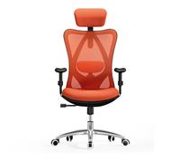 西昊(SIHOO) 人體工學電腦椅子 老板椅 家用電競椅轉椅 護腰辦公椅 M18橙色