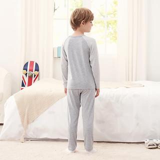 英氏儿童家居服套装 男宝打底套衫长裤睡衣套装 188A6374