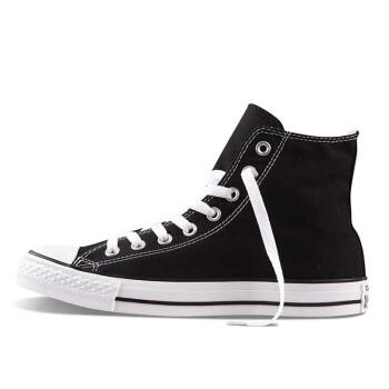 匡威 Converse All Star系列 经典款帆布鞋 男女情侣款 M9160C 黑色高帮