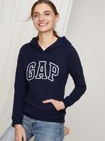 Gap/蓋璞 女裝 Logo徽標基本款長袖連帽衛衣