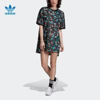 阿迪達斯官網adidas 三葉草TEE DRESS女裝圓領套頭短袖裙子EC1872