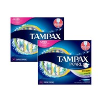 TAMPAX 丹碧絲 珍珠導管式衛生棉條 50支混合裝 2件裝 *2件