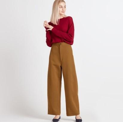 UNIQLO 优衣库 422486 女士宽腿廓形针织裤