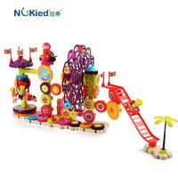 纽奇积木儿童玩具3-6岁男女孩益智玩具拼插拼装大颗粒新款齿轮积木 缤纷游乐园126pcs