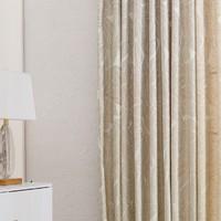 移动专享:苏宁极物 森林物语 提花高织金色遮光窗帘 1.4*2.6m