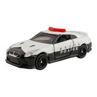 多美(TAKARA TOMY)102724 TOMY多美卡合金仿真小汽車模型男孩玩具105號日產尼桑GTR警車 *10件