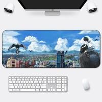 辦公鼠標墊超大加厚鎖邊風景創意可愛動漫小號電腦筆記本家用桌墊