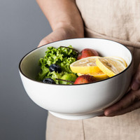 陶瓷大號家用碗拉面碗蔬菜水果沙拉碗西式酒店骨瓷大湯碗