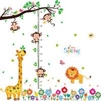 學威 兒童身高動物貼紙