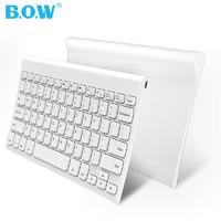 BOW航世迷你無線鍵盤 蘋果筆記本電腦充電小鼠標超薄靜音鍵鼠套裝