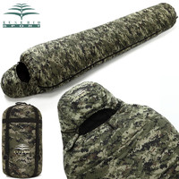 EUSEBIO戶外睡袋成人加厚秋冬保暖露營野營加大睡袋數碼迷彩睡袋 *2件