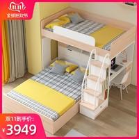 多功能組合上下床成人交錯式上下鋪高低床兒童床雙層床成年子母床