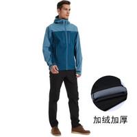 coloretto ST5085 戶外男加絨加厚防水防風佩YKK拉鏈沖鋒褲