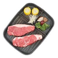 限地区、京东PLUS会员:祁连牧歌 安格斯 谷饲300天厚切西冷牛排 500g(2片装) *3件