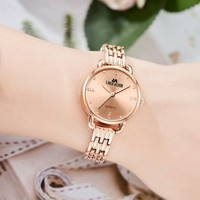 時尚防水女表精致小表盤女學生腕表女士手表  同價雙十一