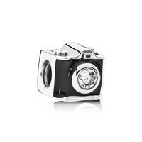 PANDORA 潘多拉 女士懷舊照相機串飾925銀飾掛件 791709CZ