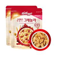19日0點、88VIP : Kelloggs 家樂氏 蔓越莓谷蘭諾拉水果燕麥麥片 500g* 2袋