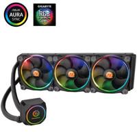 Tt(Thermaltake)蛟龍 Sync RGB 360 一體式CPU水冷散熱器 (RGB風扇/主板同步/全銅水冷頭/多平臺/帶硅脂)