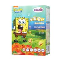 美國Beakid海綿寶寶水果溶豆溶溶豆兒童零食24g 黃桃蘋果味 *7件