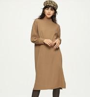 GU 極優 320197 女士羅紋開衩連衣裙