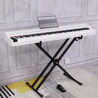 博仕德 便捷式電鋼琴88考級電鋼 力度鍵-折疊琴架-珍珠白